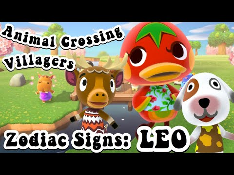 Animal Crossing Villagers as their Zodiac Sign: LEO ♌️