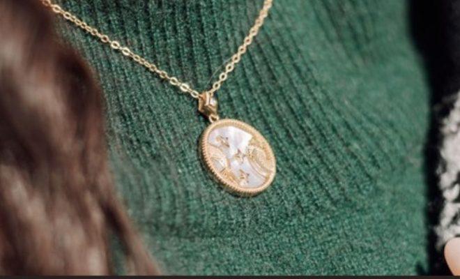 Statement Zodiac Pisces Sign Necklace