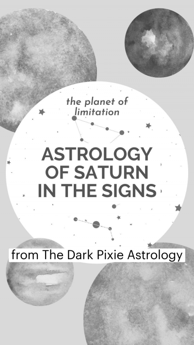 Astrology of Saturn in the Signs