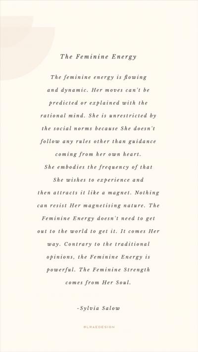 The Feminine Energy by Sylvia Salow | Happy International Women's Day