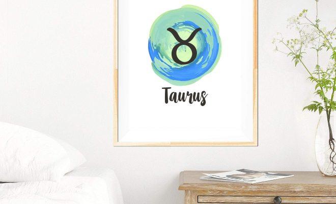 Taurus – Zodiac Star Sign Print – 24×36