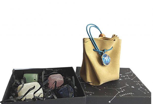 Taurus Zodiac Crystals Gift Set   Birthday Gift – Stones Set + Pouch