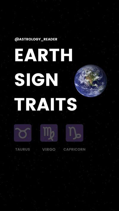 Earth Sign Traits: Taurus Virgo Capricorn Facts. Astrology For Beginners, Zodiac Sign Meanings.
