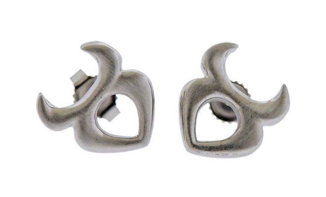 Gubelin Gold Taurus Zodiac Sign Stud Earrings