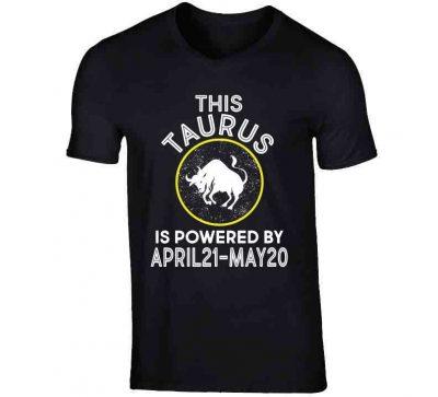 Taurus Zodiac Hoodie – V-Neck / Black / Large