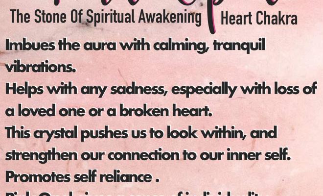 Pink Opal Tower- The Stone Of Spiritual Awakening