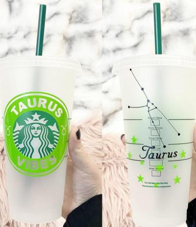 Taurus Zodiac Starbucks Cup – Rose Gold