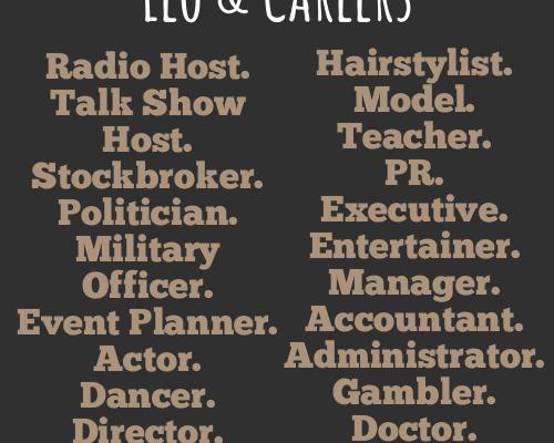 ZODIAC SOCIETY — Leo Career Ideas