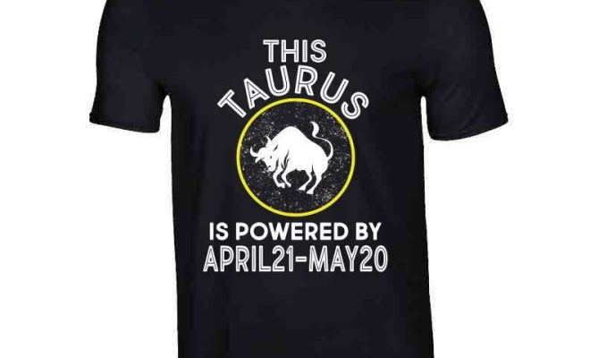 Taurus Zodiac Ladies T Shirt – V-Neck / Black / Small