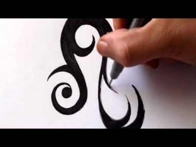 How To Draw a Tribal Leo Star Sign – Real Time Sketch