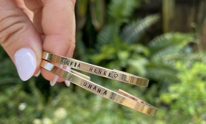 Custom Mama & Me Cuff Bracelet Set – Sterling Silver / Inside Only
