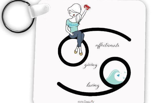 Zodiac: Cancer Keychain