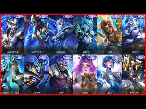 All Zodiac Skins in Mobile Legends