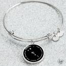 Taurus Zodiac Sign Bracelet – Luxury Bangle (Silver) / No